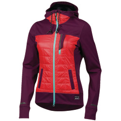 PEARL iZUMi W Versa Quilted Hoodie potent purple poppy red