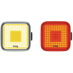 Knog Lichtset Blinder Square twin pack black