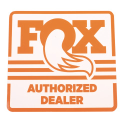 FOX Authorized Dealer Decal orange