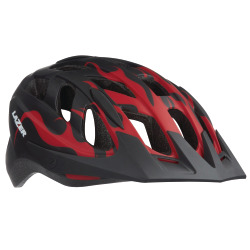 LAZER youth J1 Helm red flames