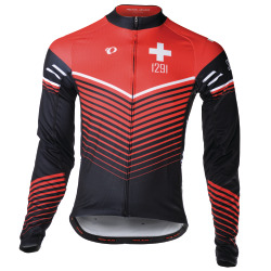 PEARL iZUMi ELITE LTD LS Thermal Jersey Suisse Edition