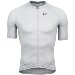 PEARL iZUMi Interval Jersey white wet weather triad