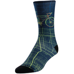 PEARL iZUMi PRO Tall Sock navy city bike