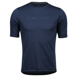 PEARL iZUMi BLVD Merino T navy wet weather layered