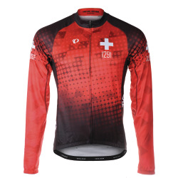 PEARL iZUMi ELITE Thermal LS Jersey SF Suisse Edition 2.0 red
