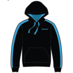 Shimano Workshop Hooded Sweater 2018 blau schwarz