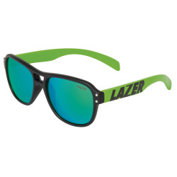 LAZER Kids Brille KIDI matte black flash green