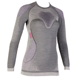 UYN Lady Fusyon Shirt long sleeve anthracite / purple / pink