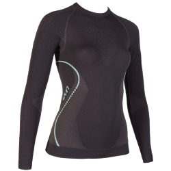 UYN Lady Evolutyon Shirt long sleeve charcoal / anthracite / aqua