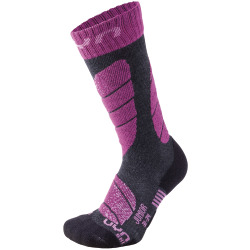 UYN Junior Ski Socks anthracite melange / violet