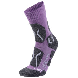 UYN Lady Trekking Winter Merino Socks violet / pearl grey
