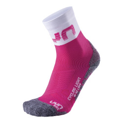 UYN Lady Cycling Light Socks pink / white