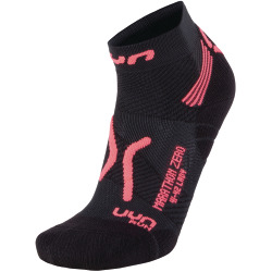 UYN Lady Run Marathon Zero Socks black / coral fluo