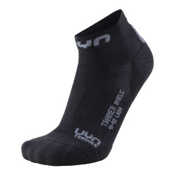 UYN Lady Trainer Ankle Socks black / grey