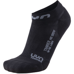 UYN Lady Trainer No Show Socks black / grey