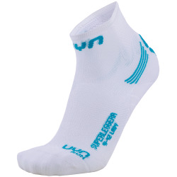 UYN Lady Run Superleggera Socks white / turquoise
