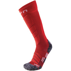 UYN Lady Ski Magma Socks dark red / red