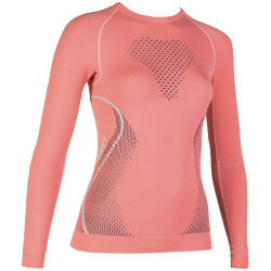 UYN Lady Evolutyon Shirt long sleeve coral / anthracite / aqua