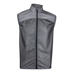 UYN Man Run Alpha Wind Vest black melange