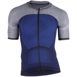 UYN Man Bike Alpha Shirt short sleeve medieval blue / sleet grey