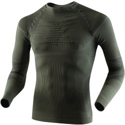 X-BIONIC Men Underwear Hunting Shirt long slv round neck sage green antra